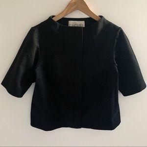 Rachel Rachel Roy Black Cropped Jacket Sz